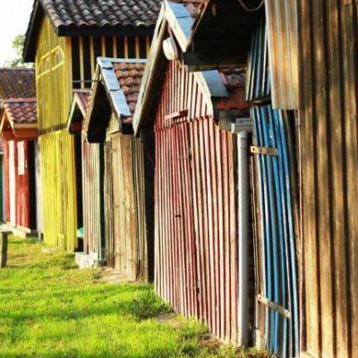 Biganos et ses maisons colorées