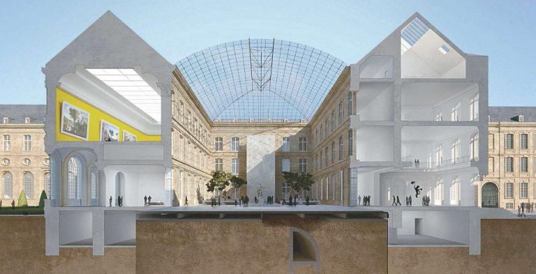 Projection de la future entrée de l'hôtel. - © Maes architectes-urbanistes